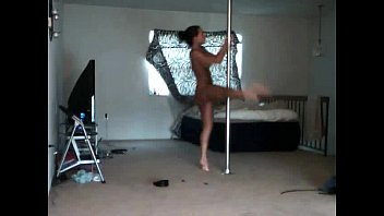 Striptease at pole dance - The most sensual strip by a woman - Amateur