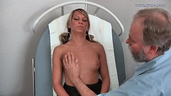 Blonde Girl visits doctor for Gyno exam