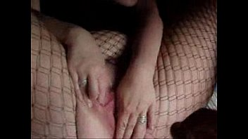 Petite teen tries her fishnet